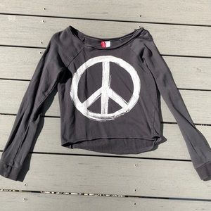 Navy Blue Peace Sweatshirt